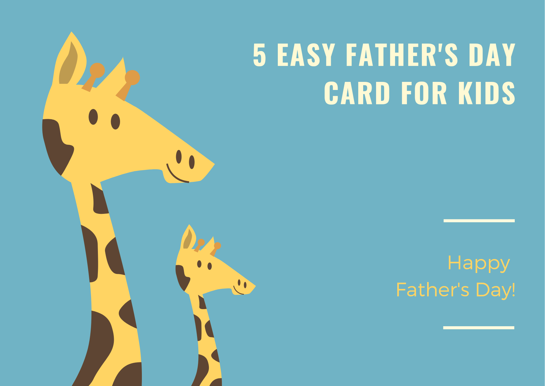 5 easy Father's day cards for kids