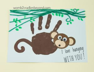 Handprint card for Father's day for preschoolers