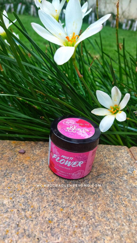 Deyga, multi flower mask with all goodness of flowers